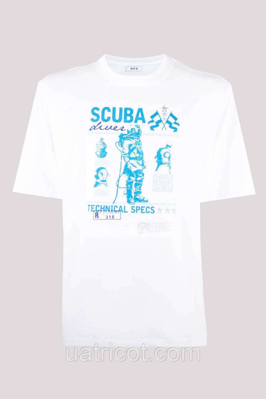 Футболка мужская KIFA ФМХ-019/15 SCUBA diver белая