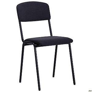 Офісний стілець АМФ Майстер чорний А-2 металевий з м'яким сидінням і спинкою