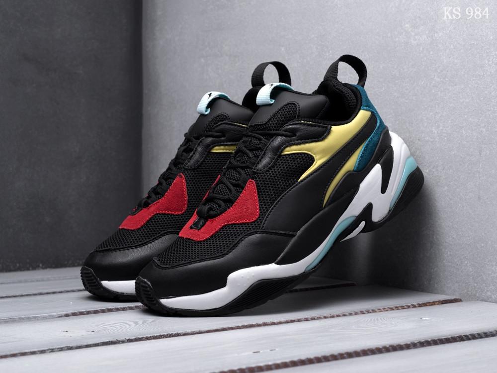 Мужские кроссовки Puma Thunder Spectra (черно/желтые)