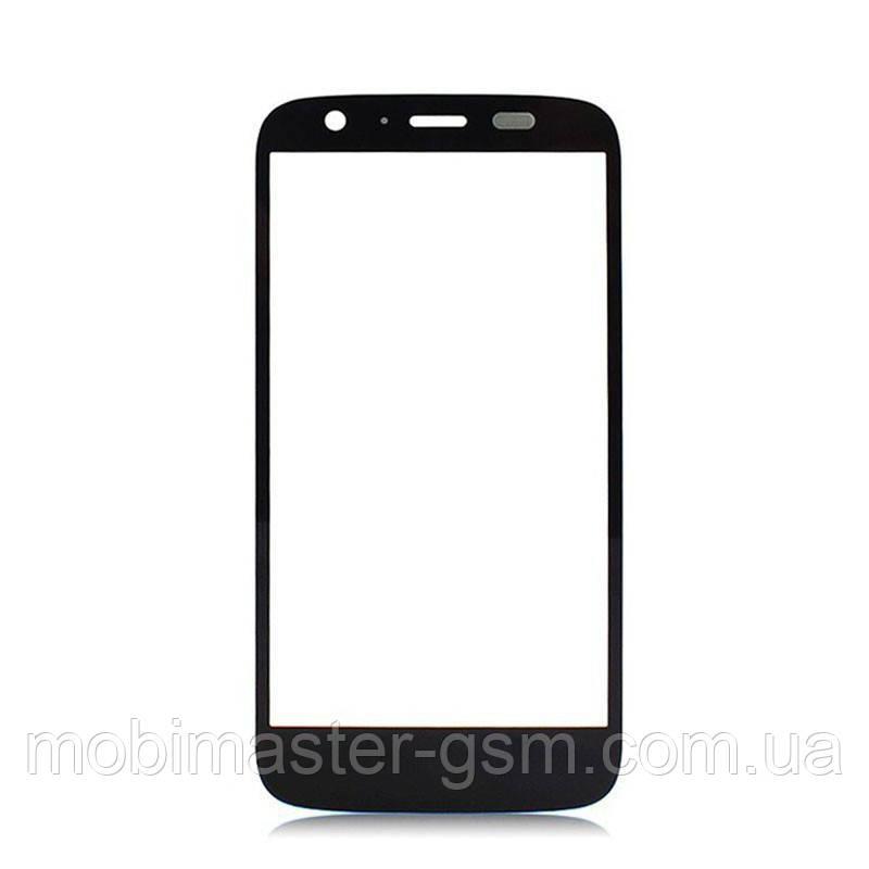 Корпусное стекло на Motorola XT1033 Moto G черное