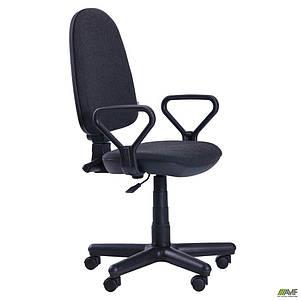 Офисное кресло АМФ Комфорт Нью ткань-черное пластик