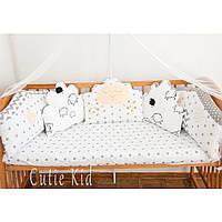 """Бортики в детскую кроватку """"Милые овечки"""""""