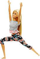 Кукла Барби Йога Двигайся как я Barbie Made to Move Barbie Doll, Blonde FTG81