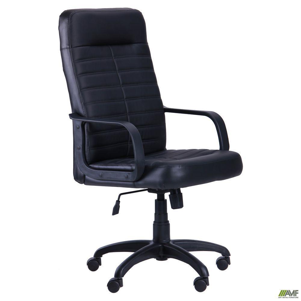 Компьютерное кресло АМФ Ледли Пластик черный-Неаполь N-20