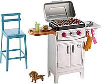 Игровой набор для барбекю Барби Barbie BBQ Grill Furniture & Accessory Set DVX48