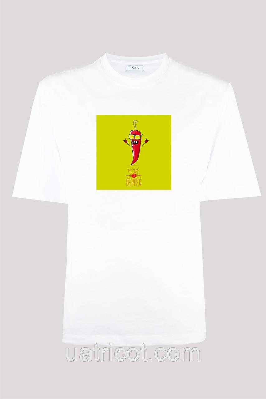 Футболка мужская KIFA ФМХ-019/15 MY NAME IS PEPPER белая