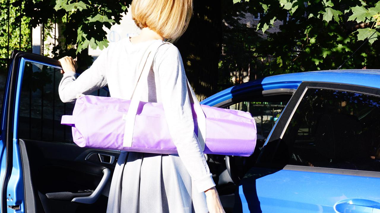 Сумка-чехол для коврика для йоги Foyo Purple