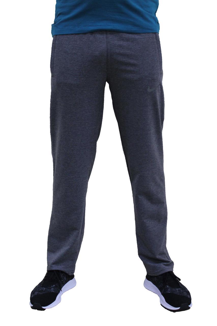 Мужские трикотажные серые спортивные штаны прямые (Реплика)
