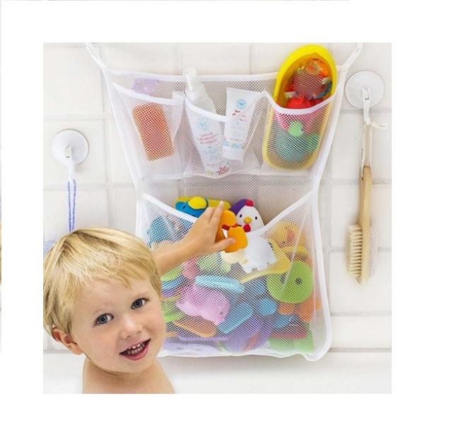Сетка для игрушек в ванную комнату на несколько отделений 45*35 см
