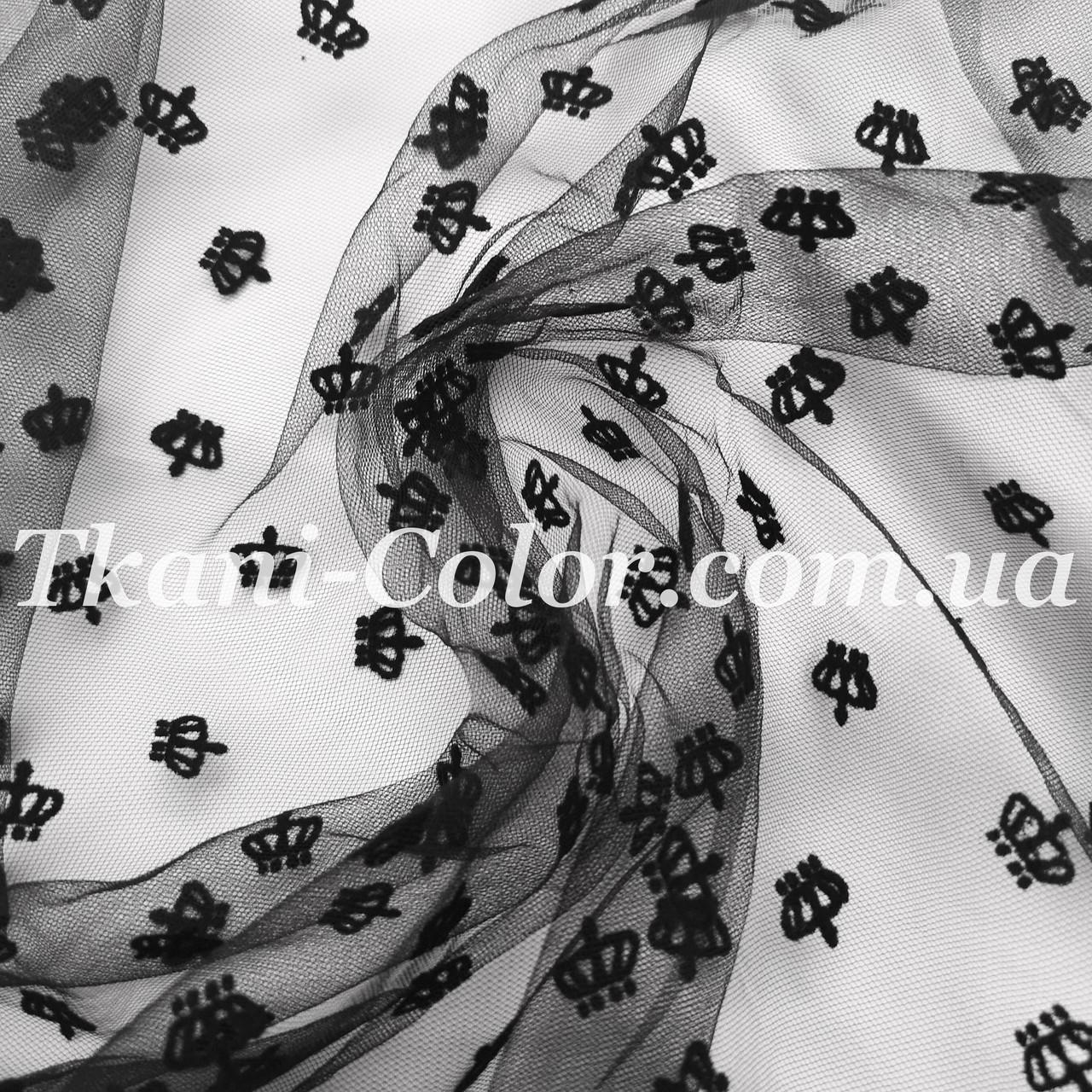 Сетка флок короны черный