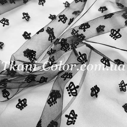 Сетка флок короны черный, фото 2