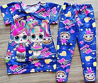 Детский летний костюм с лол для девочки туника лосины