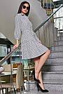 Женское повседневное платье чёрное в полоску, с рюшами, романтичное, молодёжное, весеннее, летнее, фото 2