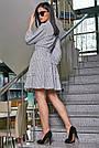 Женское повседневное платье чёрное в полоску, с рюшами, романтичное, молодёжное, весеннее, летнее, фото 3