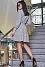 Женское повседневное платье чёрное в полоску, с рюшами, романтичное, молодёжное, весеннее, летнее, фото 4