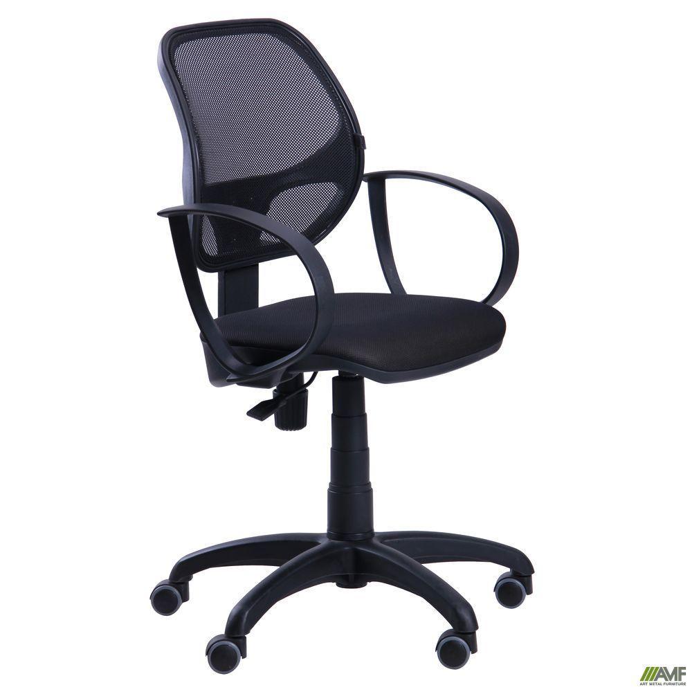Кресло для персонала АМФ Бит-8, сетка черная