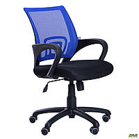 Офисное кресло АМФ Веб сетка синяя сидение-черное