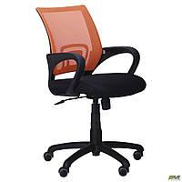 Офисное кресло АМФ Веб сетка оранжевая сидение-черное