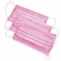 Маска медицинская трехслойная (50 шт/уп) Розовая