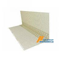 Уголок пластиковый перфорированный с сеткой 10*10, 3 м