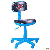 Детское компьютерное кресло AMF Свити голубой цвет принт - машинки