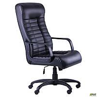 Офисное кресло АМФ Атлетик Tilt черное с высокой спинкой для руководителя