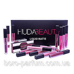 Набор жидких матовых помад Huda Beauty 16 в 1