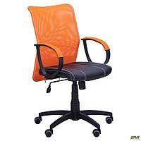 Офисное кресло АМФ-8 Лайт Net LB Софт спинка-сетка оранжеваядля сотрудников