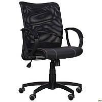 Офисное кресло АМФ-8 Лайт Net LB Софт спинка-сетка черное операторское для персонала