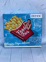 Надувной плот матрас Картошка Фри Intex 175 х 132 см артикул 58775