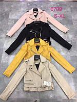 Стильная молодежная куртка эко замша