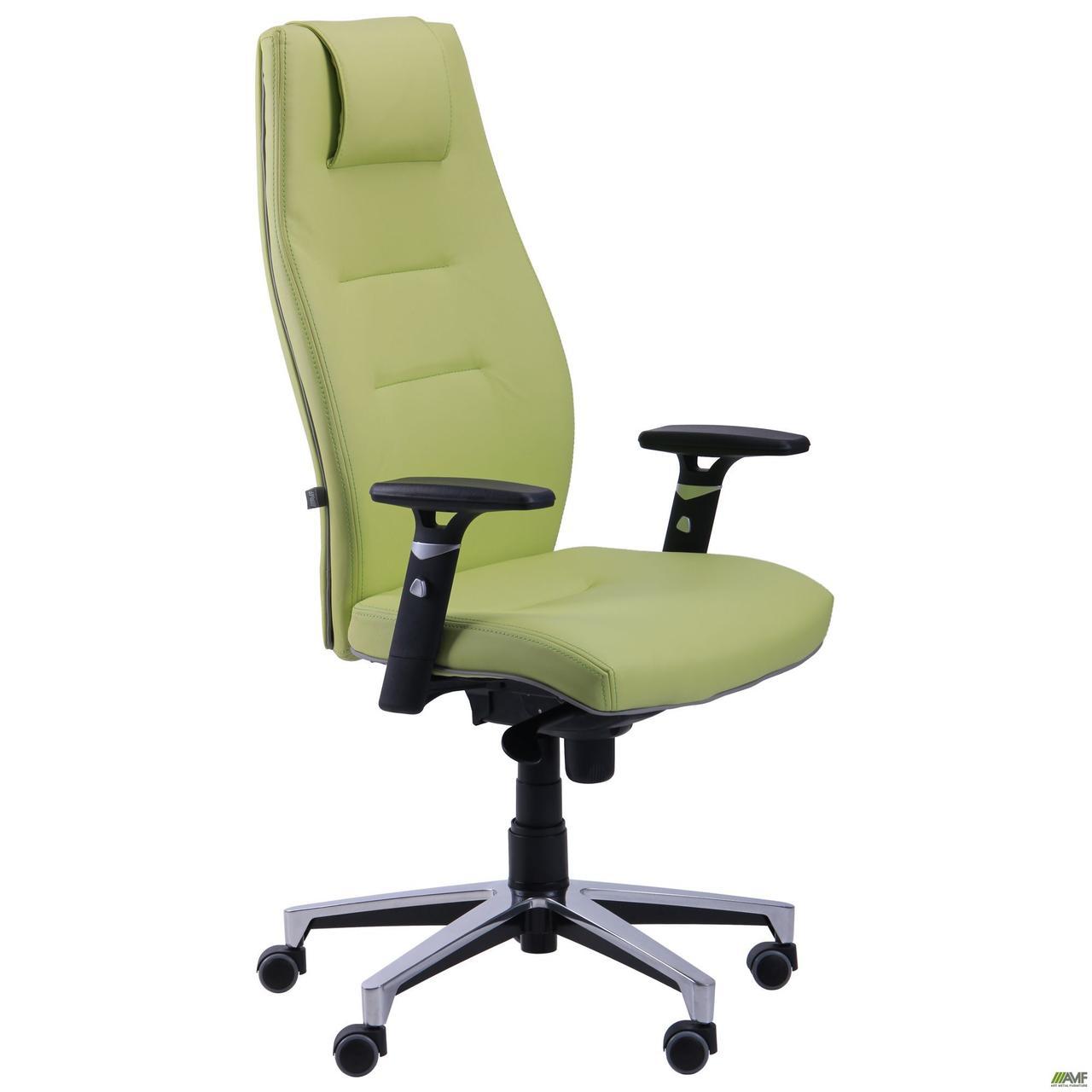 Офісне крісло АМФ Елеганс-НВ салатова з кантом