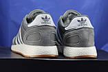 Мужские кроссовки серые в стиле Adidas iniki runner, фото 3
