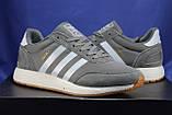 Мужские кроссовки серые в стиле Adidas iniki runner, фото 2