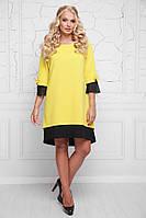 Женское платье большого размера а-силуэта, горчица