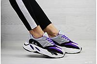 Кроссовки Adidas серые с фиолетовым, фото 1