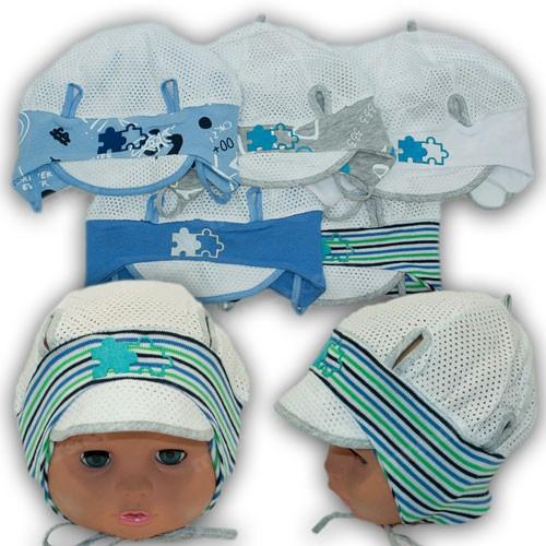 Летняя шапочка с завязками для малыша