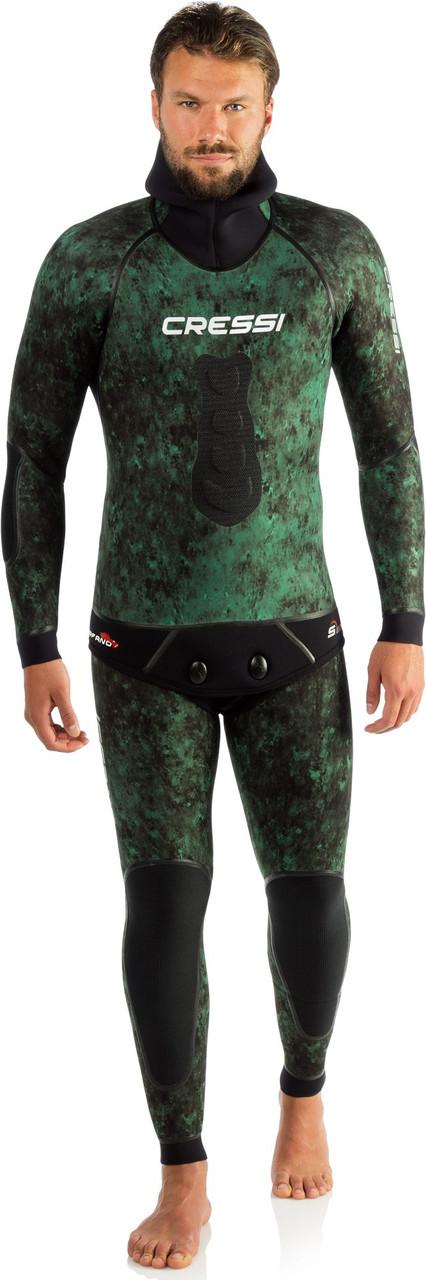 Гідрокостюм для підводного полювання Cressi-sub SCORFANO 7мм (куртка+ штани з лямками )