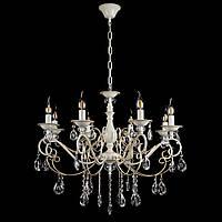Классическая люстра-свеча на 8 лампочек СветМира VL-20050/8 (кремовая с золотом)