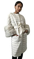 Стеганое пальто RizhikOva Ivory 46 RO-1467