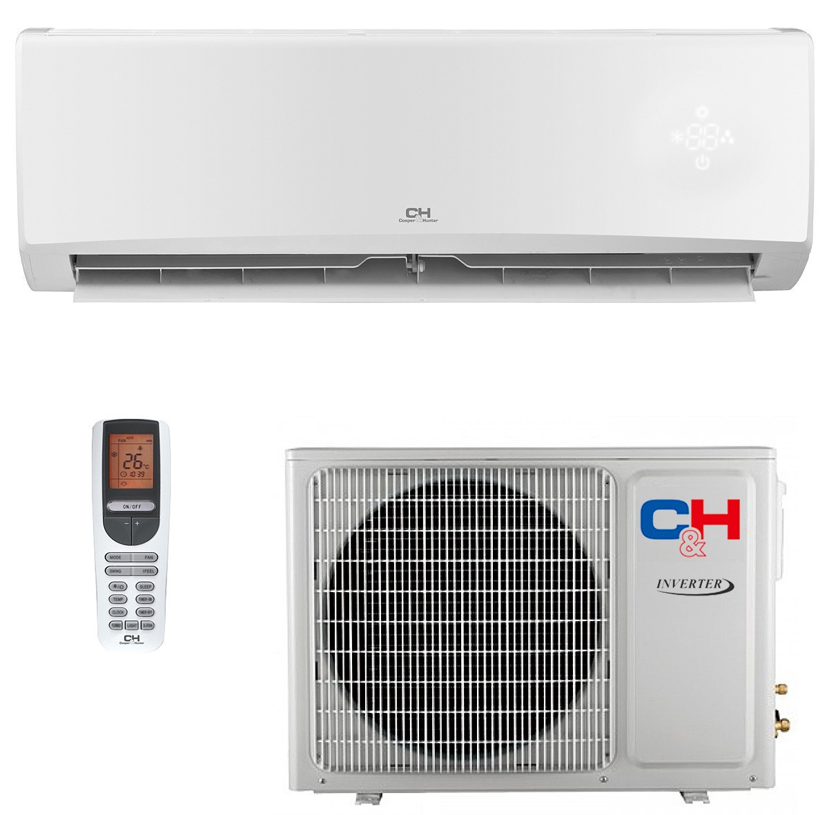 Кондиционер инверторный сплит-система Cooper&Hunter Alpha Inverter CH-S18FTXE-NG R32 Wi-Fi