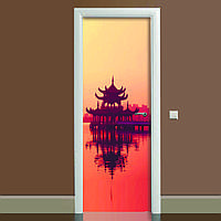 Наклейка на двері Натхнення (повнокольоровий фотодрук, плівка для дверей, декор дверей)