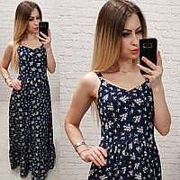 Платье арт 162 синее в белый букетик, фото 1