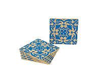 Комплект костеров  пробковых Ekora 6 шт. синие  (1206 T)