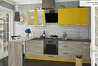 """Сучасна Модульна Кухня """"Шарлотта"""" (дуб крафт золотий, індіго), фото 1"""