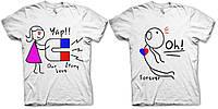 Парные футболки Our Love story, фото 1