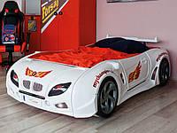 Пластиковая кровать машина Форсаж белая