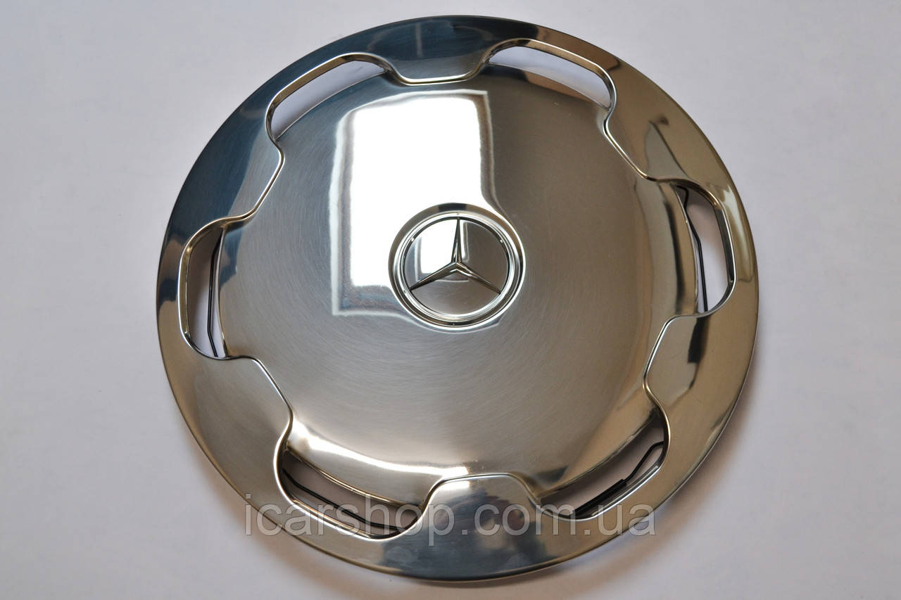 Колпаки на диски 22,5 / Нержавейка Mercedes (4шт)