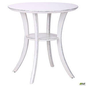 Овальний столик AMF Модерн ніжки ваніль старіння