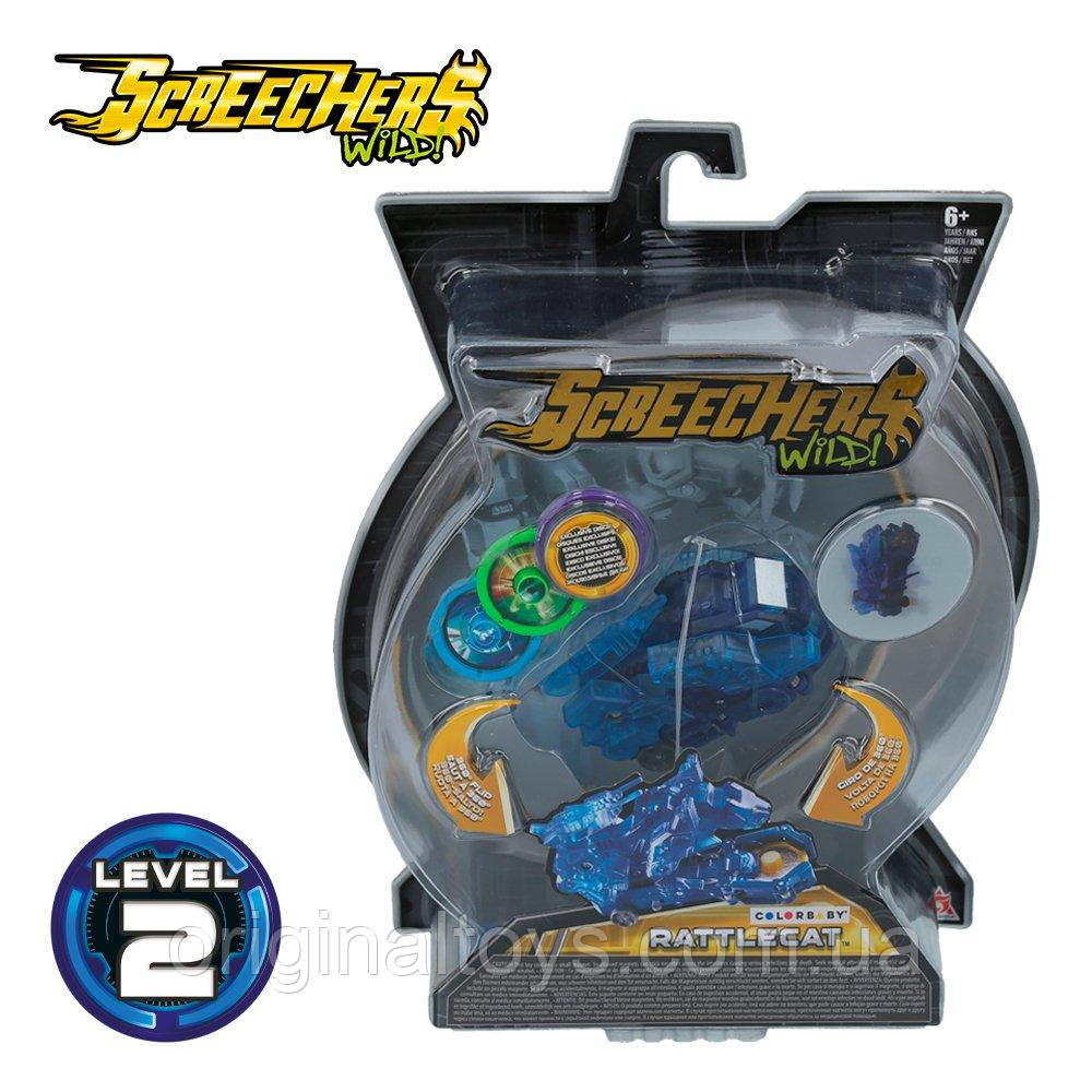 Машинка трансформер Рэттлкэт Дикі Скричеры Screechers Wild RattleCat Level 2